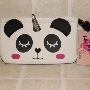 Luv Betsey Johnson Panda Unicorn Large Wristlet